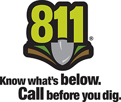 811 call before logo